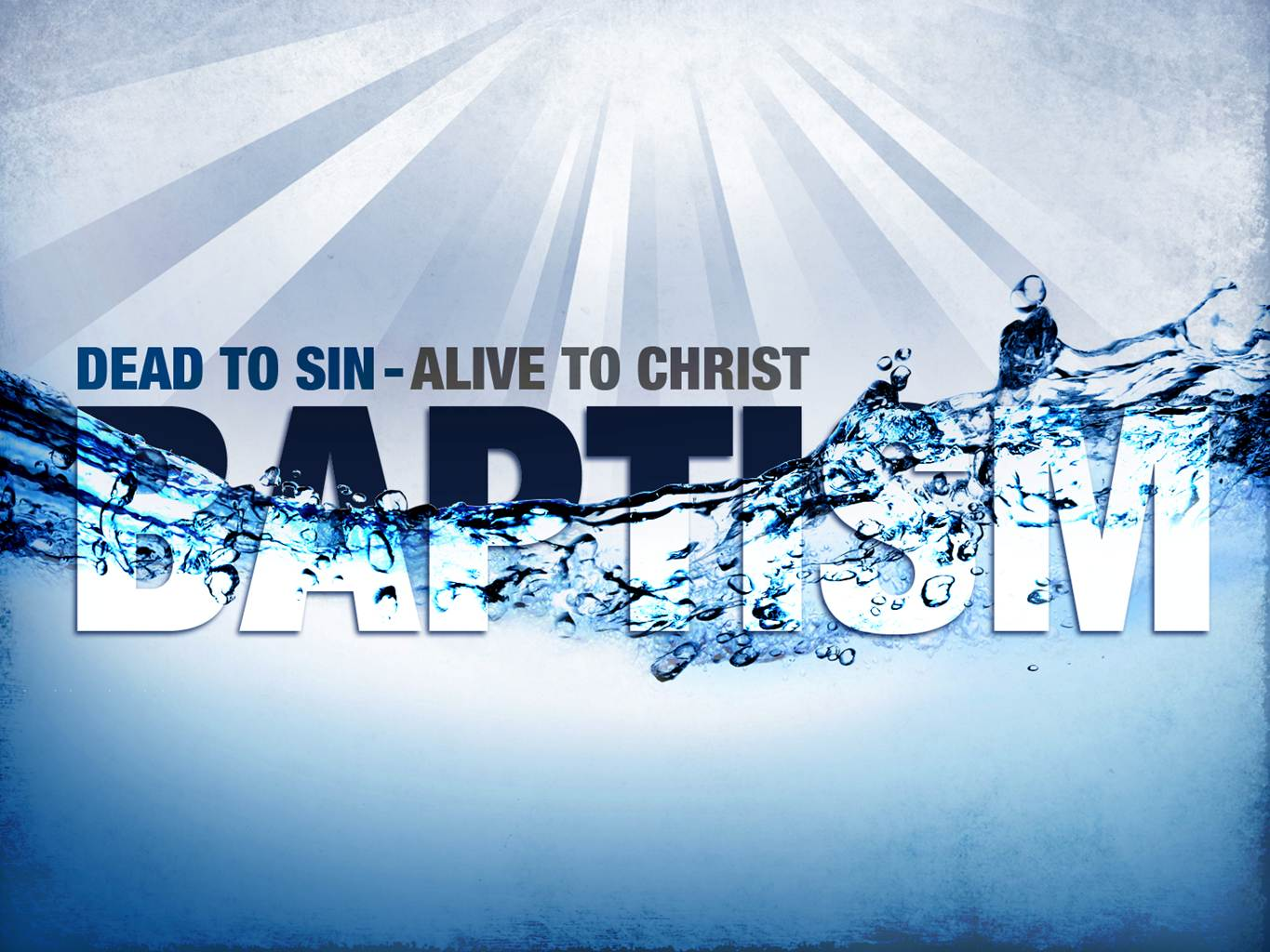 Baptism and the holy spirit